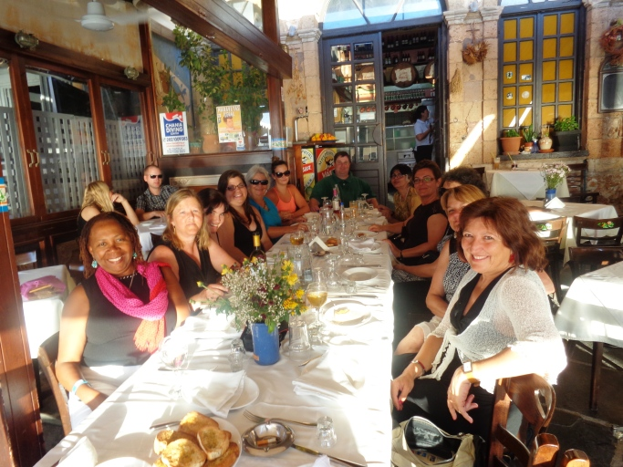 Refreshing Great Minds With Savory Greek Cuisine:Members of the Creativity Team