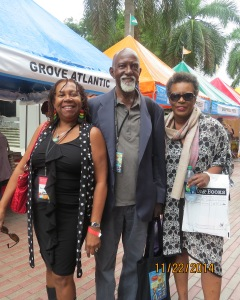 Marva with Mervyn Morris & Claudia Rankine